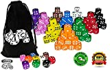 Vivorr Premium Dice Set of 100 Pieces, 10
