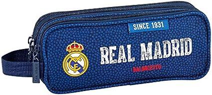 Real Madrid – Estuche escolar Triple Deluxe baloncesto Real Madrid: Amazon.es: Oficina y papelería