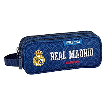 Real Madrid - Estuche escolar Triple Deluxe baloncesto Real ...