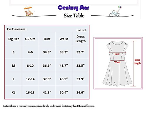 Century-Star-Womens-Girls-Plain-Simple-Swing-Dress-Loose-T-Shirt-Dress-Soft-Thin-Knee-Length-Flowy-Dress