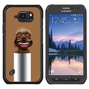 LECELL--Funda protectora / Cubierta / Piel For Samsung Galaxy S6Active Active G890A -- Marrón Mutt perro perdiguero --