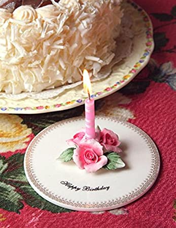 Image Unavailable Not Available For Color BW Brands Ceramic Make A Wish Birthday Candle Holder