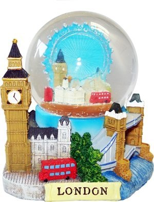 Snow Globes 3D (Small)- London Collage, Detailing London Landmarks Big Ben, Tower Bridge etc. by Snow Globes (Image #1)