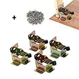 4PCS Folding Lock Extension Table Bed Leg Feet 75 62 55mm Foldable Support Bracket with Screws