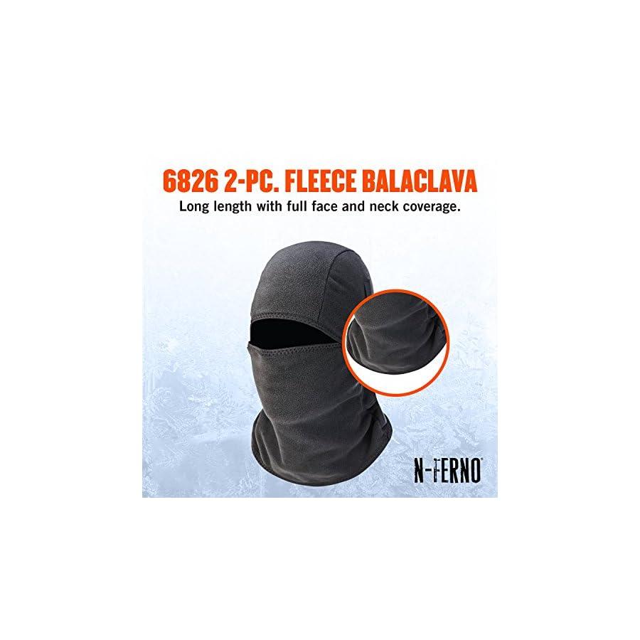 Ergodyne N Ferno 6826 Winter Ski Mask Balaclava, Thermal Fleece, Detachable Two Piece