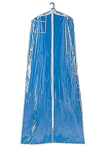 B&H Bridal Garment Clear Vinyl Bag with zipper clear 3.2 mm. 24 x 36 x 72 inches