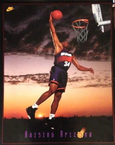 90s Vintage Charles Barkley NBA Basketball Collectible Photograph Print Poster
