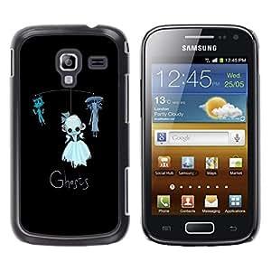 Be Good Phone Accessory // Dura Cáscara cubierta Protectora Caso Carcasa Funda de Protección para Samsung Galaxy Ace 2 I8160 Ace II X S7560M // Ghosts Funny Kids Black Cat Toy