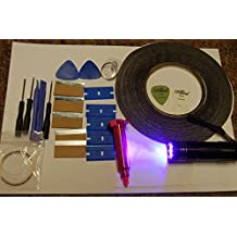 5ML LOCA GLUE, 9 LED UV TORCH, DOUBLE SIDED TAPE AND OPENING TOOLS FITS IPHONE, SAMSUNG, HTC, NOKIA
