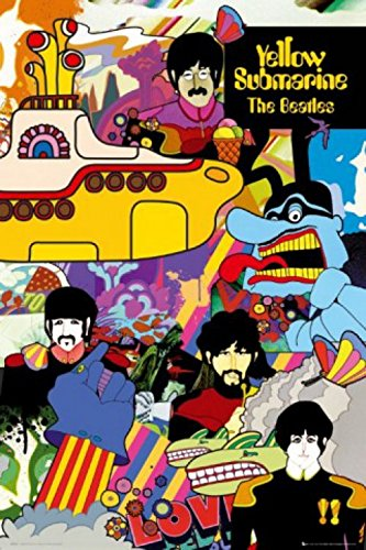 1art1 The Beatles - Yellow Submarine Poster 24 x 36in