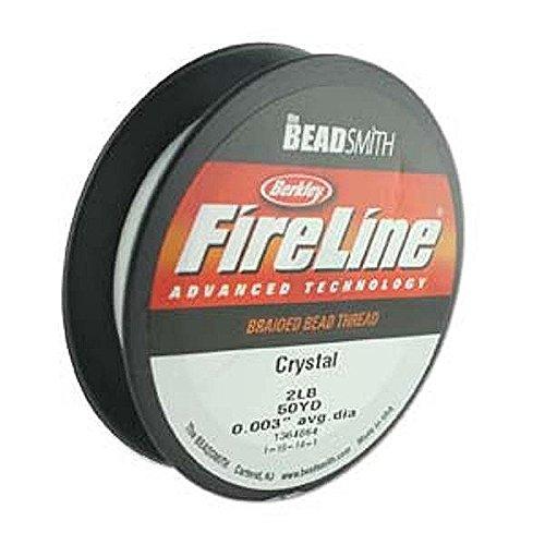 2 Lb Beads (Fireline - Braided Bead Thread - Crystal - 50 Yards (2lb Test) Beadsmith)