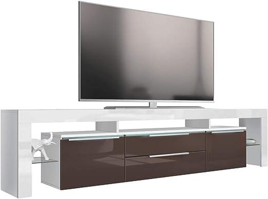 TV placa de mueble para televisor lima Nova, Schoko Hochglanz, Lima Nova V2 TV Board: Vladon: Amazon.es: Hogar