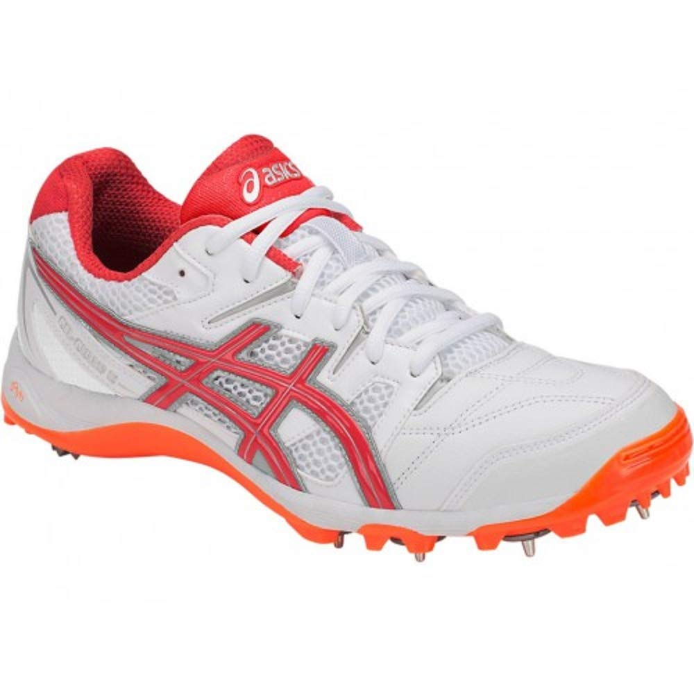 Buy ASICS Men Gel-Gully 5 White/Red Alert Cricket Shoes-13 UK (49 ...