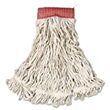RCPA153WHI - Rubbermaid-White Compact Web Foot Wet Mop Heads 5quot; Headband