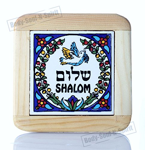 Ceramic Shalom (Hebrew