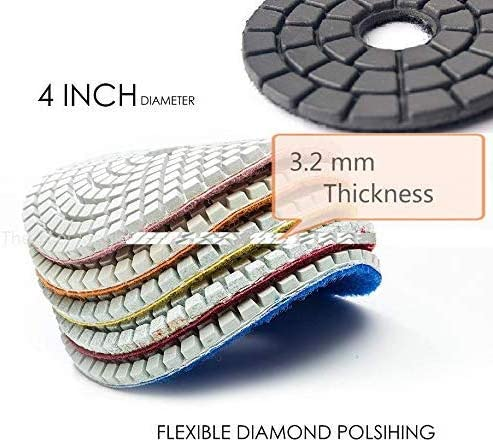 "Diamond Glazing Buffer make granite marble mirror like polished 4/"" 2 Pieces"