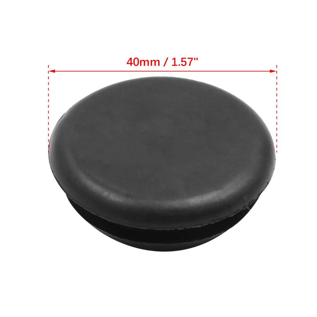 uxcell Car Rubber Grommet Plug Flush Mount Wire Gasket Interior 40mm x 15mm Black 2pcs