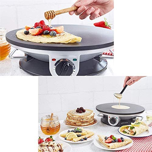 Elektrische Pancake Maker Crepe Machine, Non-Stick Cooker Crepe Machine Pan Pizza Bakken Tools with Accessories & Verstelbare Temperature Control