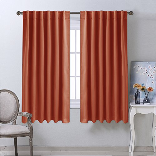 Panels Living Room Blackout Curtains And Draperies Orange Color Inch Wide Inch