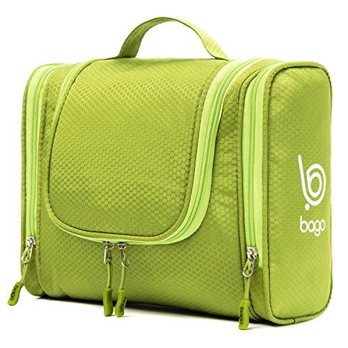 Bago Hanging Toiletry Bag For Men & Women - Toiletries Travel Organizer (Green)