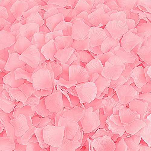 Artificial Rose Petals - Rose Petals, Cozyswan 4000pcs Silk Artificial Fabric Flower for Valentine Ceremony Wedding or Home Hotel Garden Bouquet Party Decorations