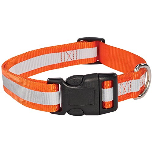 "Guardian Gear Reflective Dog Collar, Fits Necks 18"" to 26"", Orange"