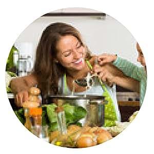 alfombrilla de ratón Mujer con el bebé de cocina en cocina - ronda - 20cm