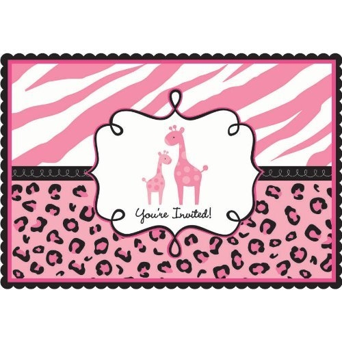 Sweet Safari Girl-Postcard Invitations]()