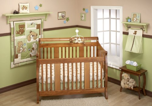 Little Bedding by NoJo Dreamland Teddy Uni 10 Piece Crib Bedding Set Dream Teddy Sheet