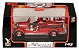 1935 Mack Type 75BX Fire Engine Hanover, Red - Yatming 43001 - 1/43 Scale Diecast Model Toy Car