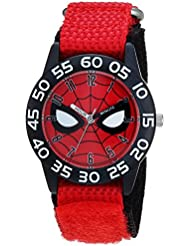 MARVEL Boy's Spider-Man' Quartz Plastic and Nylon Casual Watch, Color:red (Model: WMA000186)