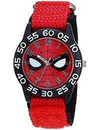 Boy's Spider-Man' Quartz Plastic and Nylon Casual Watch, Color:red (Model: WMA000186)