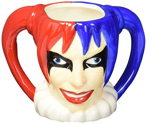 Zak Designs BTMC-8513 Batman Comics Harley Quinn Ceramic sculpted Mug, Multicolor (Harley Sippy Cups)
