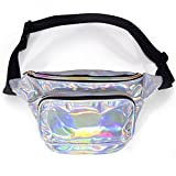 LEADO Holographic Fanny Pack for Women, Fashion Waist Pack for Rave, Festival, Party