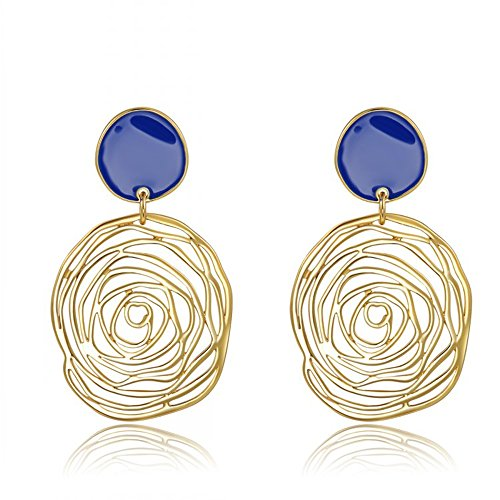 [Fashion personality large rose earring. Trendy earrings 18k gold plated] (One Night Stand Costume For Girls)