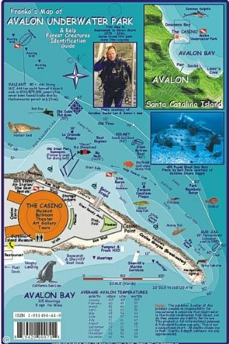 (Avalon Underwater Park Santa Catalina Map & Kelp Forest Creatures Guide Franko Maps Laminated Fish Card)