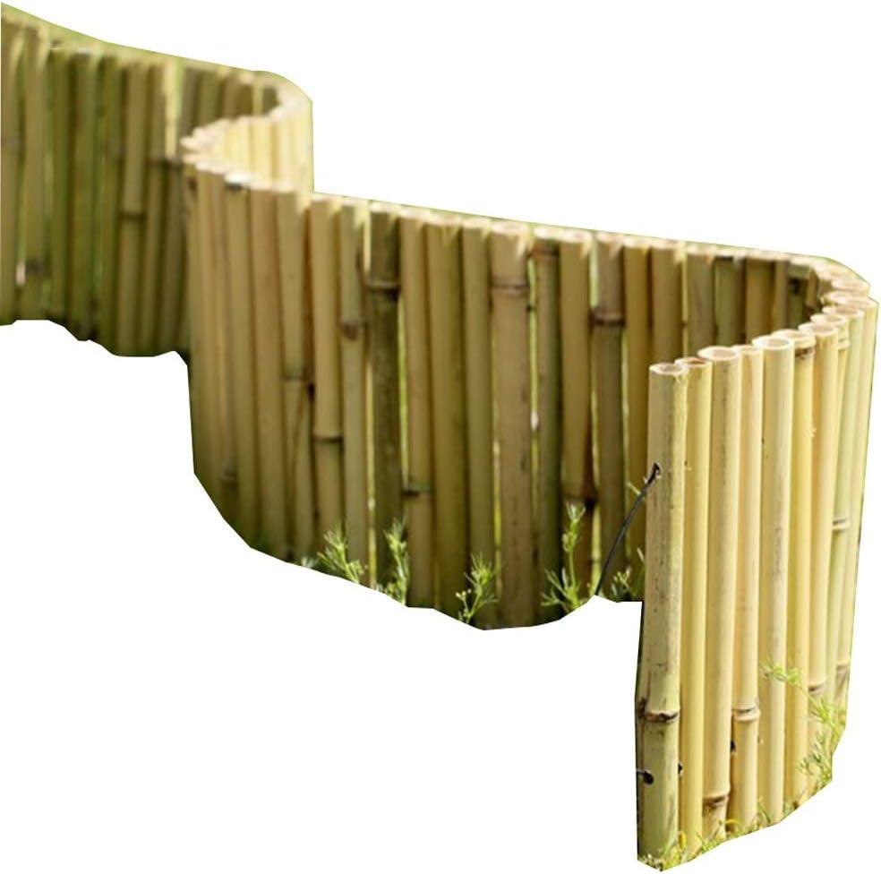 YINUO Cercos Jardín Poste de la Cerca de la Pantalla del césped del jardín Poste de la Cerca Cut Off bambú Resistente a la corrosión Hecha a Mano No se deforma con