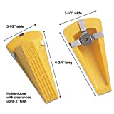 Master Caster 00967 Giant Foot Magnetic Doorstop, No-Slip Rubber Wedge, 3-1/2w x 6-3/4d x 2h, Yellow
