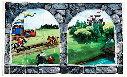 Castle Window Insta-View Party Accessory (1 count) (1/Pkg) (Medieval Party Decorations)