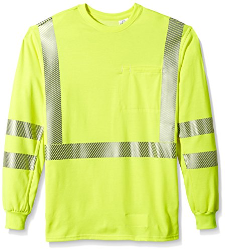 Bulwark Men's Hi-Visibility Lightweight T-Shirt, Yellow/Green, Medium
