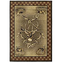 Marshfield Whitetail Ridge Novelty Rug Rug Size: Runner 111 x 74