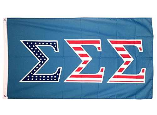 Sigma Sigma Sigma USA Letter Sorority Flag Greek Letter Use as a Banner Large 3 x 5 Feet Sign Decor Tri-Sigma Review