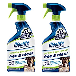 Woolite Free & Clear, Pet Stain & Odor Remover, 22oz (Pack of 2), 2719