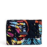 Vera Bradley Iconic Rfid Riley Compact Wallet, Signature Cotton, Butterfly Flutter