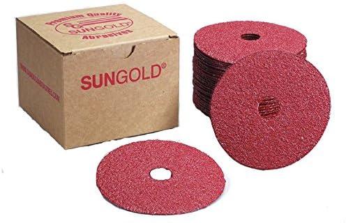 B00CH27Q42 Sungold Abrasives 16907 4-1/2-Inch x 7/8-Inch Center Hole 100 Grit Aluminum Oxide Fiber Disc, 25-Pack 51hTDp6e02L