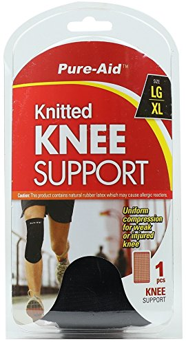 Pure-Aid Knitted Knee Support (LG-XL) (Pack of 2) by Pure-Aid   B01CTA1WEG