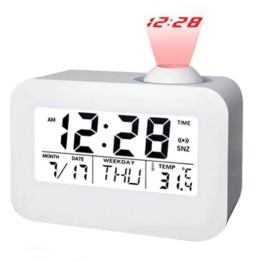 GZXYYY Proyección LED Digital Reloj Despertador Habla Reloj de ...