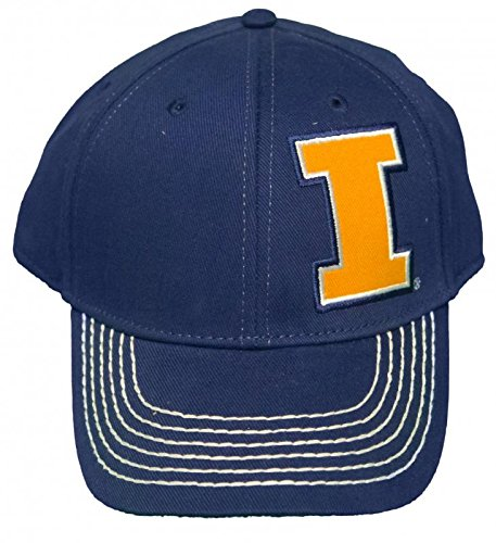 NEW! University of Illinois Illini Adjustable Back Hat 3D Embroidered Cap