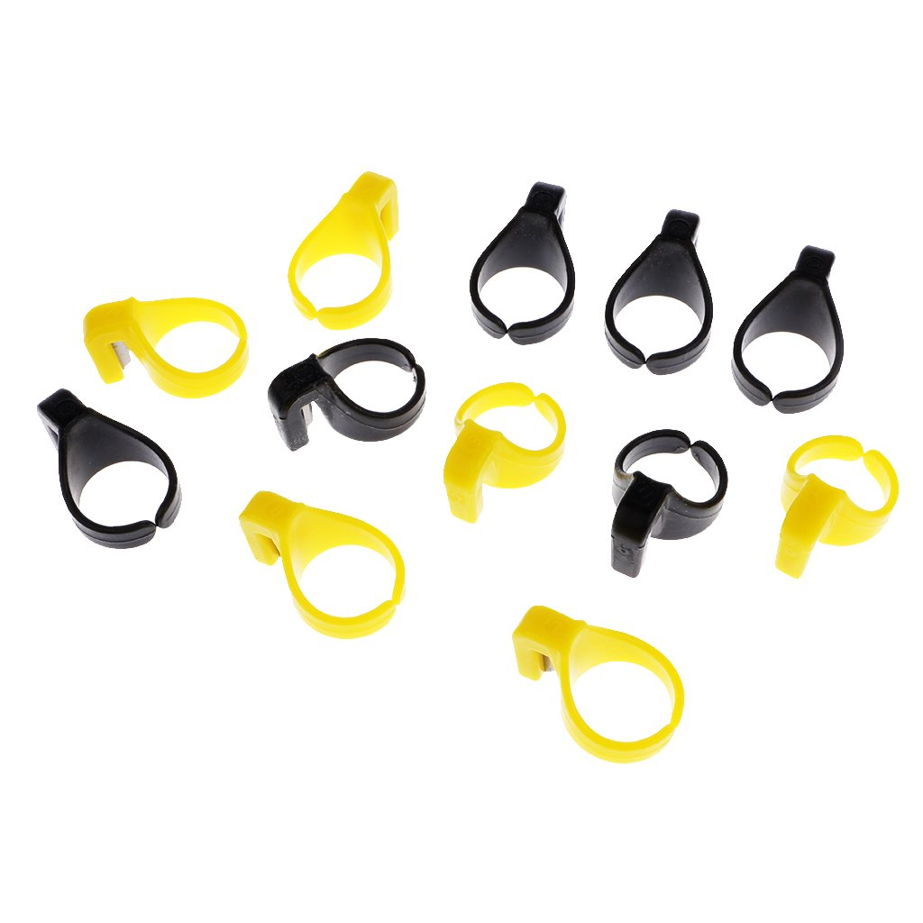 IPOTCH 12pcs DIY Fadenschneider Ring fingerhut n/ähen Tool f/ür N/ähgarn Hand oder Maschine