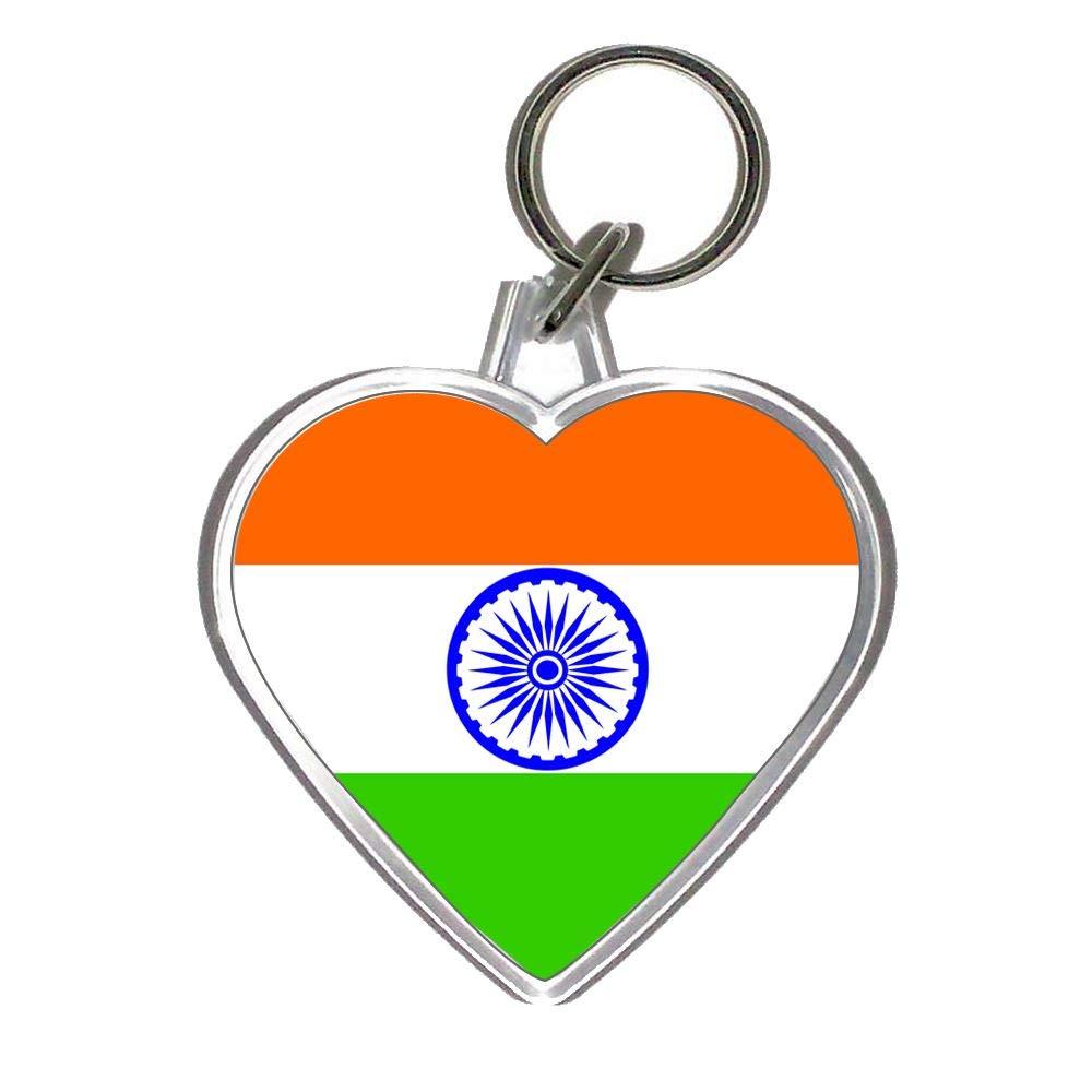 Amazon.com: Bandera de la India – Llavero de plástico en ...